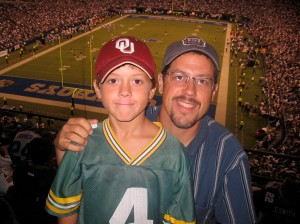 My son, Jacob, and I went with our good friends, Chris and Eli King, to the Dallas vs. Philly MNF game.