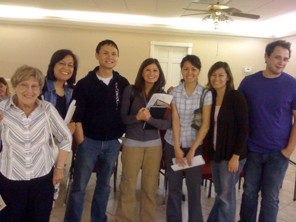 A crew from Wednesday Bible Study Group at Garnett