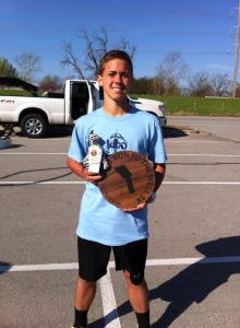 Jacob Taylor wins Run to the Well 5K photo by Ashley Lovett
